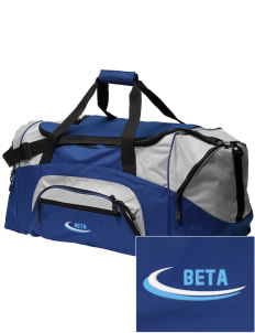 Beta Theta Pi Embroidered Colorblock Duffel Bag