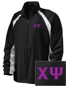 Chi Psi  Embroidered Men's Full Zip Warm Up Jacket
