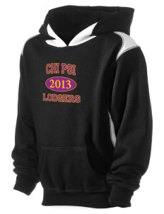 Chi Psi Kid's Pullover Hooded Sweatshirt with Contrast Color
