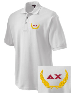 Delta Chi Embroidered Tall Men's Pique Polo