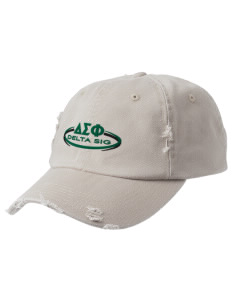 Delta Sigma Phi Embroidered Distressed Cap
