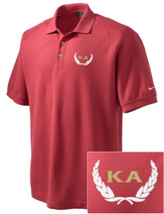 Kappa Alpha Order Embroidered Nike Men's Pique Knit Golf Polo