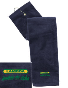 Lambda Chi Alpha Embroidered Hand Towel with Grommet