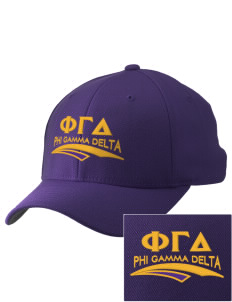 Phi Gamma Delta Embroidered Pro Model Fitted Cap