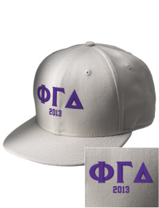 Phi Gamma Delta  Embroidered New Era Flat Bill Snapback Cap