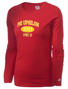 Psi Upsilon  Russell Women's Long Sleeve Campus T-Shirt