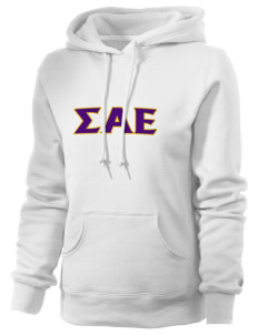 Sigma Alpha Epsilon Russell Women's Pro Cotton Fleece Hooded Sweatshirt