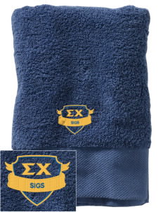 Sigma Chi Embroidered Zero Twist Resort Towel