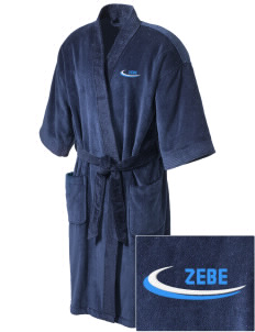Zeta Beta Tau Embroidered Terry Velour Robe