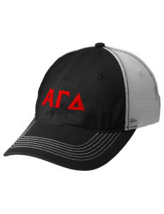 Alpha Gamma Delta Embroidered Mesh Back Cap