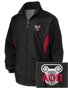Alpha Omicron Pi Embroidered Holloway Men's Full-Zip Jacket