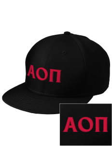 Alpha Omicron Pi  Embroidered New Era Flat Bill Snapback Cap