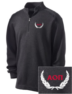 Alpha Omicron Pi Embroidered Nike Men's Golf Heather Cover Up