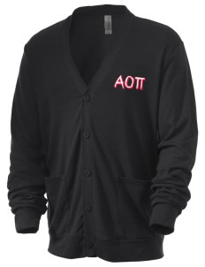 Alpha Omicron Pi Men's 5.6 oz Triblend Cardigan