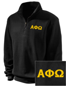Alpha Phi Omega Embroidered Men's 1/4-Zip Sweatshirt