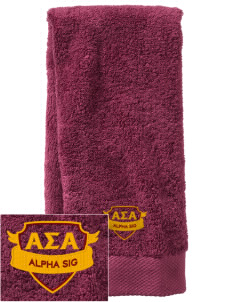 Alpha Sigma Alpha  Embroidered Zero Twist Resort Hand Towel
