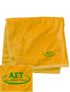 Alpha Sigma Tau Embroidered Beach Towel