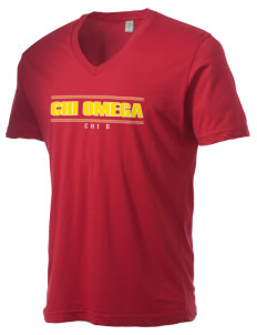 Chi Omega Alternative Men's 3.7 oz Basic V-Neck T-Shirt