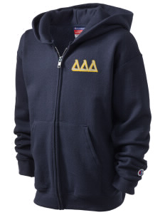 Delta Delta Delta Champion Kid's Full-Zip Hoodie