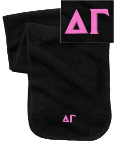 Delta Gamma Embroidered Fleece Scarf