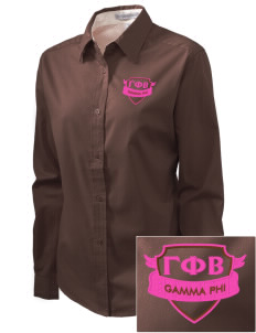 Gamma Phi Beta Embroidered Women's Easy-Care Shirt