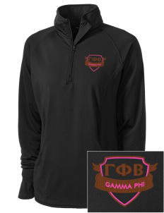 Gamma Phi Beta Embroidered Ladies Stretched Half-Zip Pullover