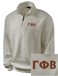 Gamma Phi Beta Embroidered Men's 1/4-Zip Sweatshirt