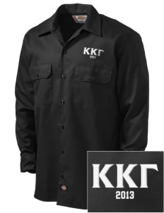 Kappa Kappa Gamma Embroidered Dickies Men's Long-Sleeve Workshirt