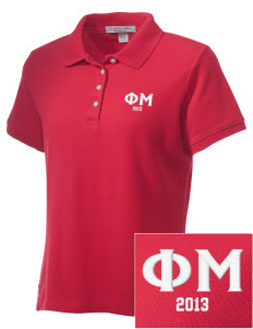 Phi Mu Embroidered Women's Performance Plus Pique Polo