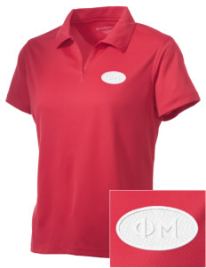 Phi Mu Embroidered Women's Double Mesh Polo