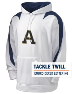 Acacia Holloway Men's Sports Fleece Hooded Sweatshirt with Tackle Twill