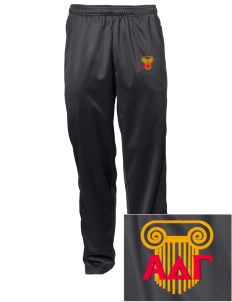 Alpha Delta Gamma Embroidered Men's Tricot Track Pants