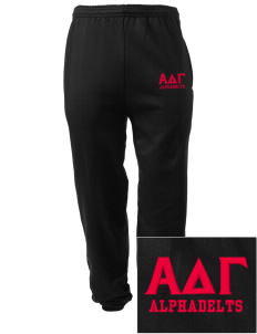 Alpha Delta Gamma Embroidered Men's Sweatpants with Pockets