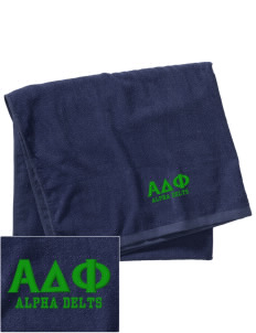 Alpha Delta Phi Embroidered Beach Towel