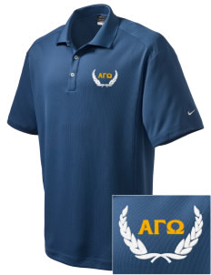 Alpha Gamma Omega Embroidered Nike Men's Dri-Fit Classic Polo
