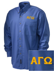 Alpha Gamma Omega Embroidered Tall Men's Twill Shirt