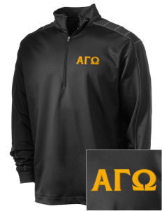 Alpha Gamma Omega Embroidered Nike Men's Golf Dri-Fit 1/2 Zip