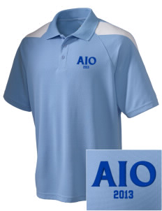 Alpha Iota Omicron Embroidered Holloway Men's Frequency Performance Pique Polo