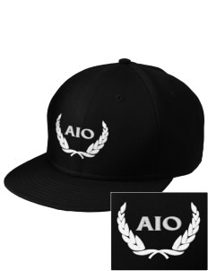 Alpha Iota Omicron  Embroidered New Era Flat Bill Snapback Cap