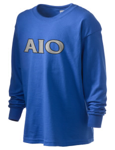 Alpha Iota Omicron Kid's 6.1 oz Long Sleeve Ultra Cotton T-Shirt