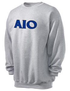 Alpha Iota Omicron Men's 7.8 oz Lightweight Crewneck Sweatshirt