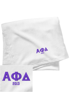 Alpha Phi Delta Embroidered Beach Towel
