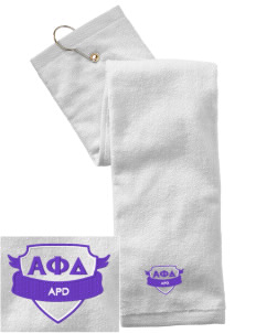 Alpha Phi Delta Embroidered Hand Towel with Grommet