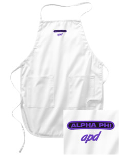 Alpha Phi Delta Embroidered Full Length Apron
