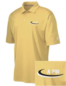 Alpha Psi Lambda Embroidered Russell Coaches Core Polo Shirt
