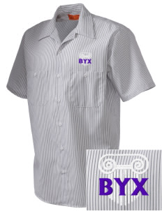 Beta Upsilon Chi  Embroidered Mens' Industrial Short Sleeve Work Shirt w/Melamine Button