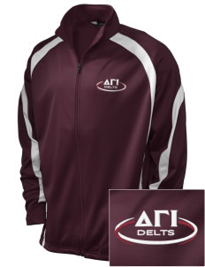 Delta Gamma Iota Embroidered Holloway Men's Tricotex Warm Up Jacket