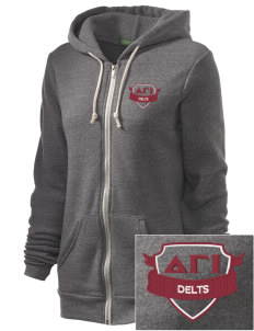 Delta Gamma Iota Embroidered Alternative Unisex The Rocky Eco-Fleece Hooded Sweatshirt