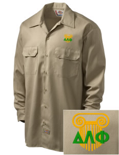 Delta Lambda Phi Embroidered Dickies Men's Long-Sleeve Workshirt