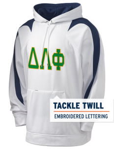 Delta Lambda Phi Holloway Men's Sports Fleece Hooded Sweatshirt with Tackle Twill